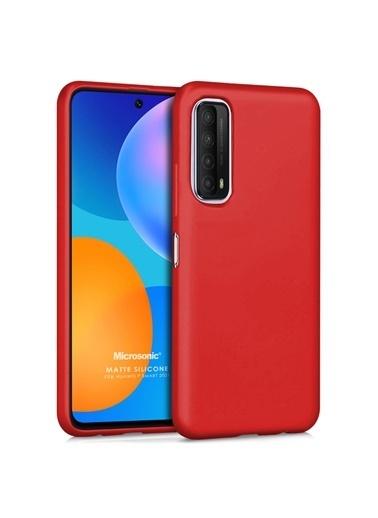 Microsonic Matte Silicone Huawei P Smart 2021 Kılıf Kırmızı